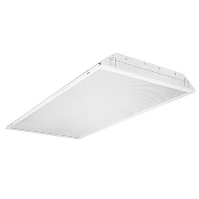 Lithonia Lighting / Acuity GT4-MV 4-Light Lay-In Grid Mount GT Series Fluorescent Lensed Troffer; 32 Watt, White, Lamp Not Included