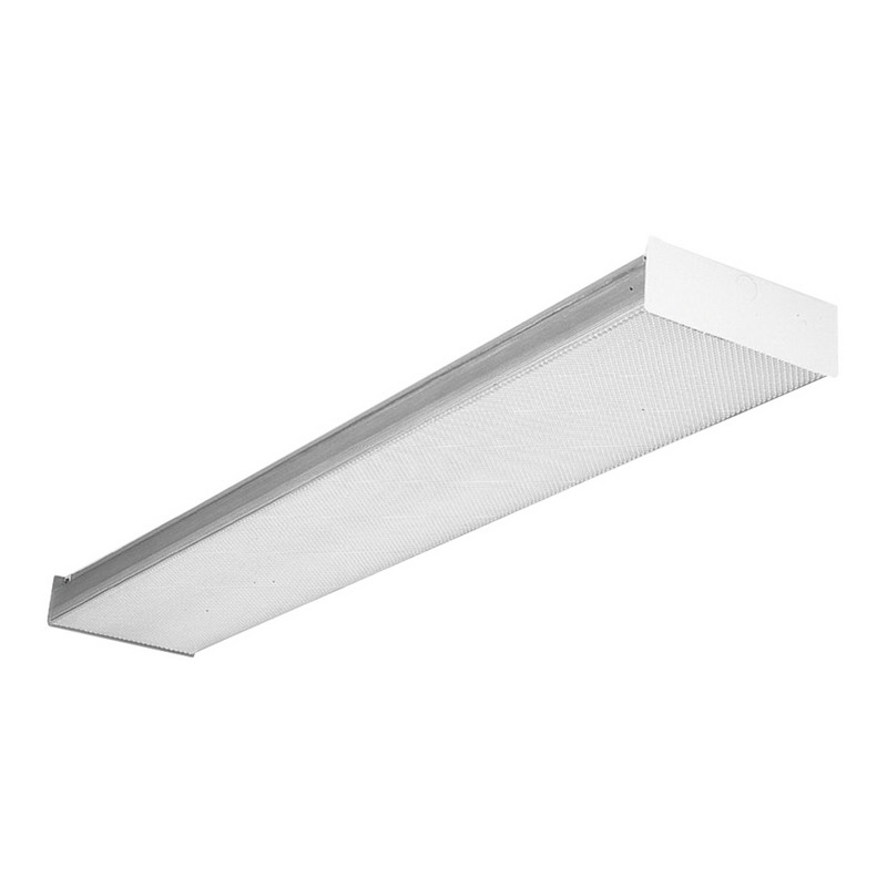 Lithonia Lighting / Acuity SB232-MV 2-Light Surface Mount SB Series Fluorescent Square-Basket Wraparound Fixture; 32 Watt, White, Lamp Not Included