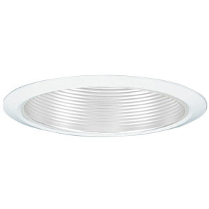 Lithonia Lighting / Acuity 7B2W-TOR-R24 Narrow Flanged 6 Inch Baffle Reflector Trim; Aluminum Reflector, Insulated and Non-Insulated Ceiling