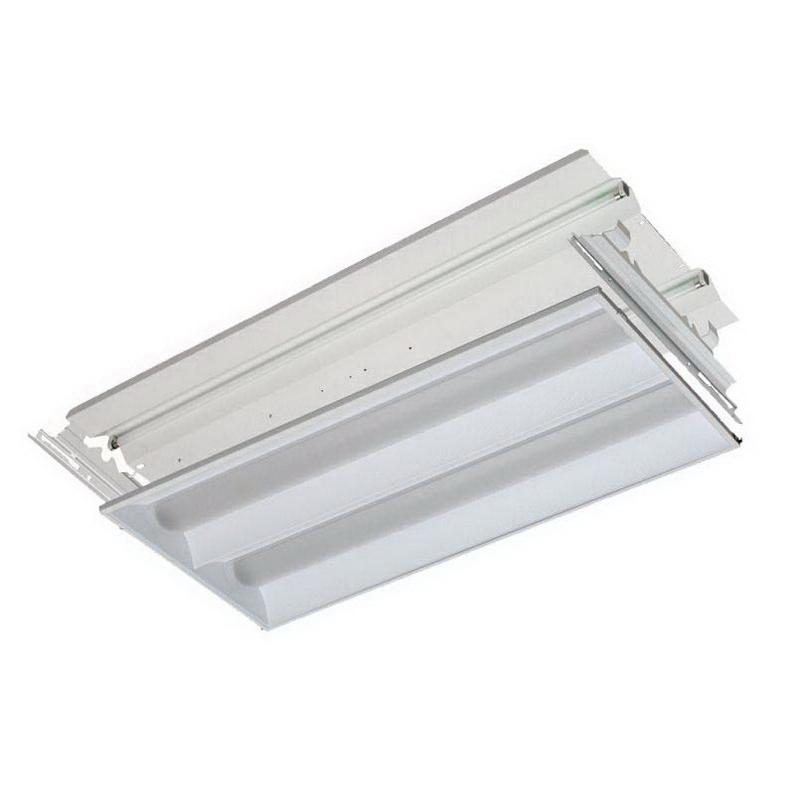 Lithonia Lighting / Acuity 2RT8RT232BIHP Simply5™ 2-Light RT8™ Series Fluorescent Volumetric Recessed Light; 32 Watt