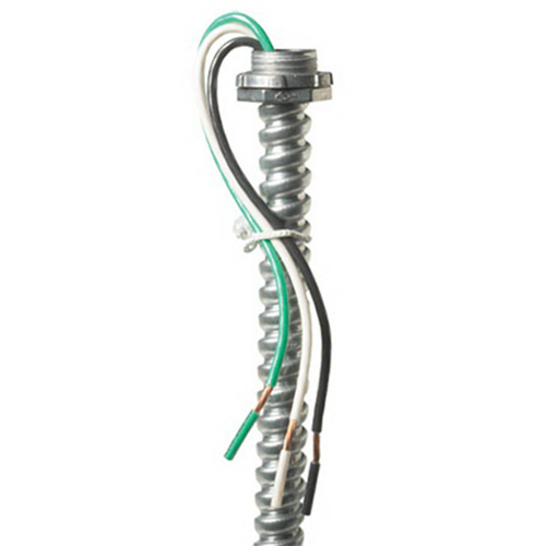 EPCO EPW1663 Fixture Whip 16 AWG Stranded  6 ft  Screw-In  Black/White/Green