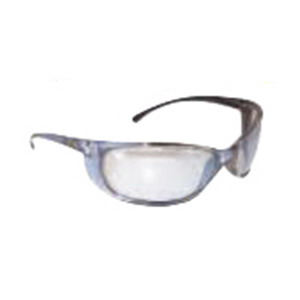 L.H. Dottie EKMD870 Sunglasses Protective Eyewear; Light Blue Frame, Blue Mirror Lens