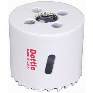 """""L.H. Dottie VP76 Variable Pitch Bi-Metal Hole Saw 4-3/4 Inch, M3 Steel RC65-66,"""""" 486524"