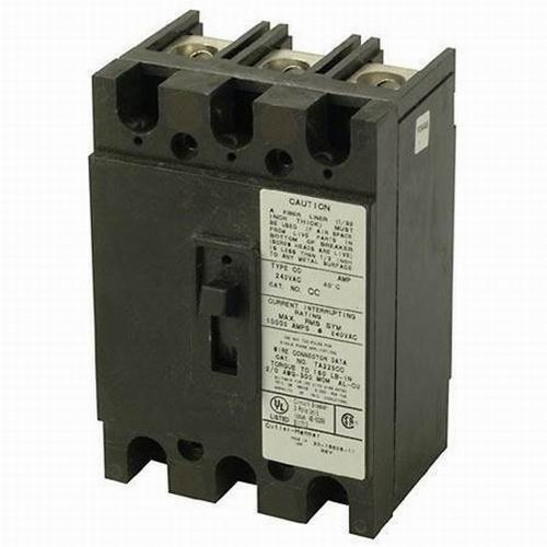 Eaton / Cutler Hammer CC3100 Main Circuit Breaker; 100 Amp, 240 Volt AC, 2-Pole, Panel Mount