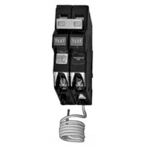 Eaton / Cutler Hammer CH250GF Ground Fault Circuit Breaker; 50 Amp, 120/240 Volt AC, 2-Pole, Plug-On Mount