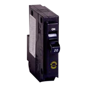 Eaton / Cutler Hammer CHQ120 Circuit Breaker; 20 Amp, 120/240 Volt AC, 1-Pole, Plug-On Mount