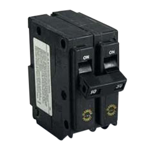 Eaton / Cutler Hammer CHQ250 Circuit Breaker; 50 Amp, 120/240 Volt AC, 2-Pole, Plug-On Mount