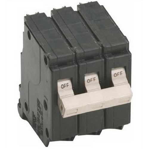 Eaton / Cutler Hammer CH330 Circuit Breaker; 30 Amp, 240 Volt AC, 3-Pole, Plug-On Mount