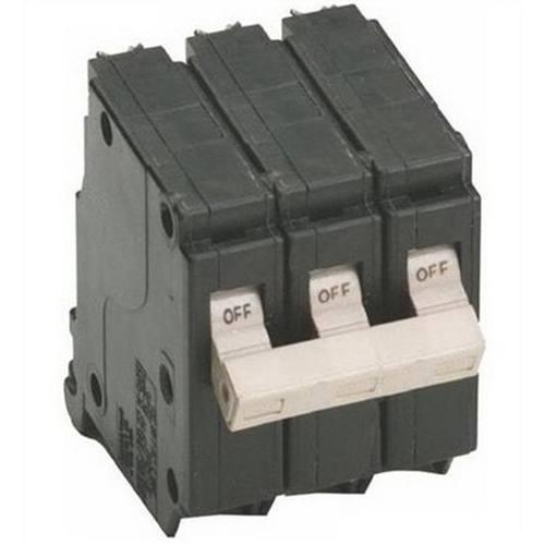 Eaton / Cutler Hammer CH350 Circuit Breaker; 50 Amp, 240 Volt AC, 3-Pole, Plug-On Mount