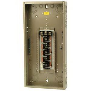 Eaton / Cutler Hammer CH42L3225G Main Lug Load Center; 225 Amp, 208 Volt AC STAR/120 Volt AC, 240 Volt AC, 3 Phase, 42 Space, 42 Circuit, 4-Wire, Flush/Surface