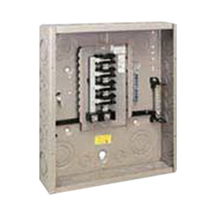 Eaton / Cutler Hammer CH16L125B Main Lug Load Center; 125 Amp, 120/240 Volt AC, 1 Phase, 16 Space, 16 Circuit, 3-Wire, Flush/Surface