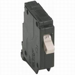 Eaton / Cutler Hammer CH125 Circuit Breaker; 25 Amp, 120/240 Volt AC, 1-Pole, Plug-On Mount