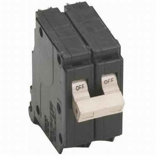 Eaton / Cutler Hammer CH225 Circuit Breaker; 25 Amp, 120/240 Volt AC, 2-Pole, Plug-On Mount