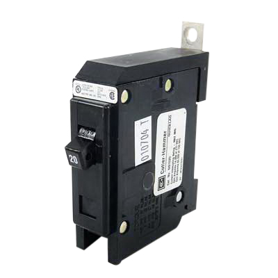 Eaton / Cutler Hammer GHQ1020 Series C Molded Case Circuit Breaker; 20 Amp, 277 Volt AC, 1-Pole, Bolt-On Mount
