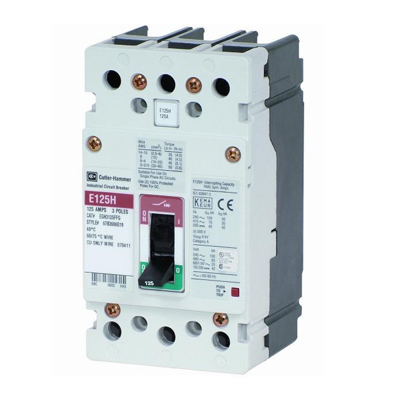 Eaton / Cutler Hammer EGE3125FFG G Series Molded Case Circuit Breaker; 125 Amp, 415/480 Volt AC, 3-Pole