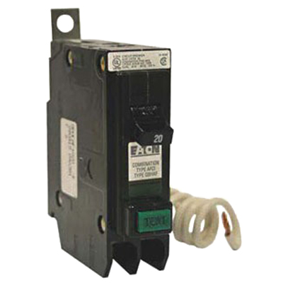 Eaton / Cutler Hammer QBAF1020 Arc Fault Circuit Interrupter; 20 Amp, 1-Pole, Bolt-On Mount