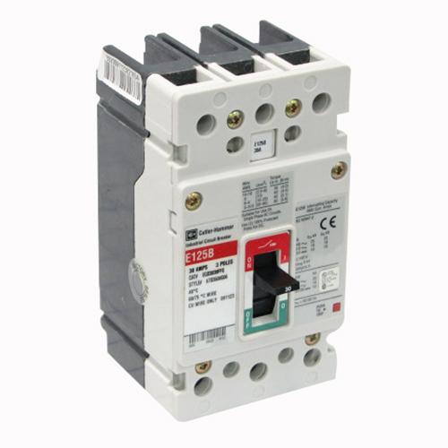 Eaton / Cutler Hammer EGB3030FFG G Series Molded Case Circuit Breaker; 30 Amp, 415/480 Volt, 3-Pole