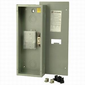 Eaton / Cutler Hammer ECC225S Circuit Breaker Enclosure; 25 Amp, 240 Volt, 16 Gauge Cold Rolled Sheet Steel, 3-Phase, NEMA 1, Surface Mount