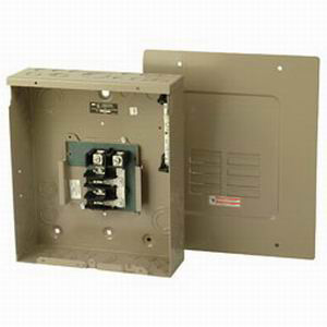 Eaton / Cutler Hammer CH8L125FP Main Lug Load Center; 125 Amp, 120/240 Volt AC, 1 Phase, 8 Space, 16 Circuit, 3-Wire, Flush Without Door