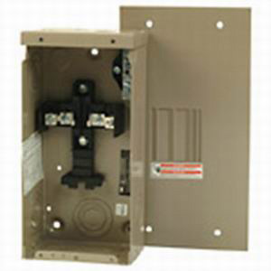 Eaton / Cutler Hammer CH2L125SP Main Lug Load Center; 125 Amp, 120/240 Volt AC, 1 Phase, 2 Space, 4 Circuit, 3-Wire, Surface Without Door