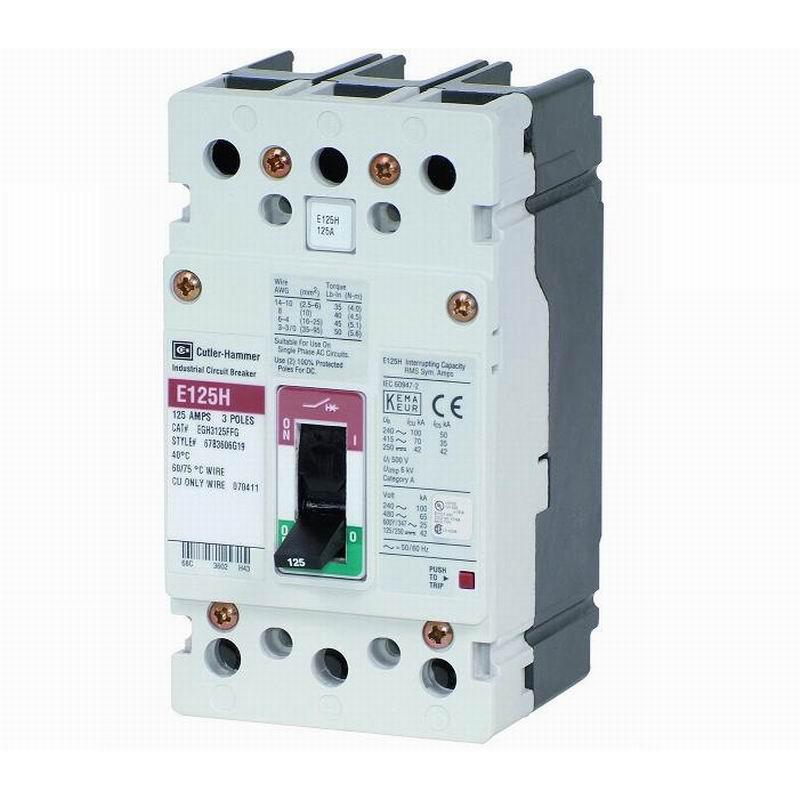 Eaton / Cutler Hammer EGE3015FFG G Series Molded Case Circuit Breaker; 15 Amp, 415/480 Volt AC, 3-Pole