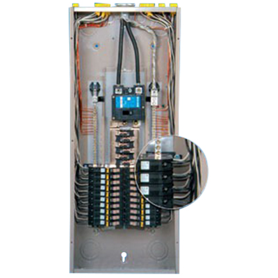 Eaton / Cutler Hammer CH42BPN200K Main Breaker Load Center; 200 Amp, 120/240 Volt AC, 1 Phase, 42 Space, 42 Circuit, 3-Wire, CH8JF-Combination, CH8JS-Surface