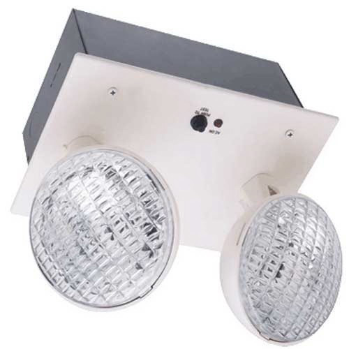 Hubbell Lighting / Dual-Lite EZ-2R Wall Mounting Double Head Decorative Emergency Lighting Unit; Incandescent
