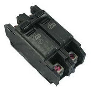 GE Distribution THQC2130 Molded Case Circuit Breaker 30 Amp  120/240 Volt AC  2-Pole  DIN Rail Mount