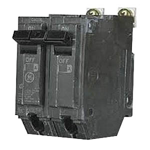 GE Distribution THHQB2130 Molded Case Circuit Breaker; 30 Amp, 120/240 Volt AC, 2-Pole, Bolt-On Mount