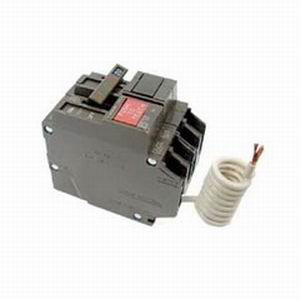 General Electric THQL2120GFEP Ground Fault Q-Line Molded Case Circuit Breaker; 20 Amp, 120/240 Volt AC, 2-Pole, Plug-In Mount