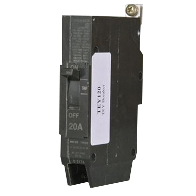 GE Distribution TEY130 Molded Case Circuit Breaker; 30 Amp, 277 Volt AC, 125 Volt DC, 1-Pole, Bolt-On Mount