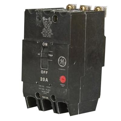 GE Distribution TEY320 Molded Case Circuit Breaker; 20 Amp, 480/277 Volt AC, 250 Volt DC, 3-Pole, Bolt-On Mount