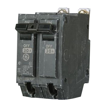 GE Distribution THQB2145 Molded Case Circuit Breaker; 45 Amp, 120/240 Volt AC, 2-Pole, Bolt-On Mount