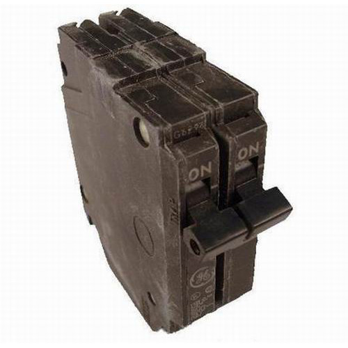 GE Distribution THQP220 Q-Line Molded Case Circuit Breaker; 20 Amp, 120/240 Volt AC, 2-Pole, Plug-In Mount