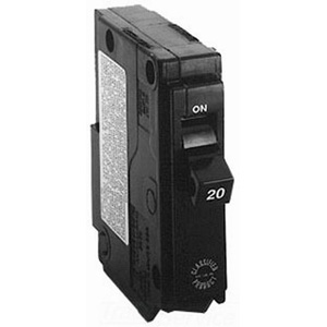 GE Distribution TQ1130 Circuit Breaker; 30 Amp, 120/240 Volt AC, 1-Pole, Plug-In Mount
