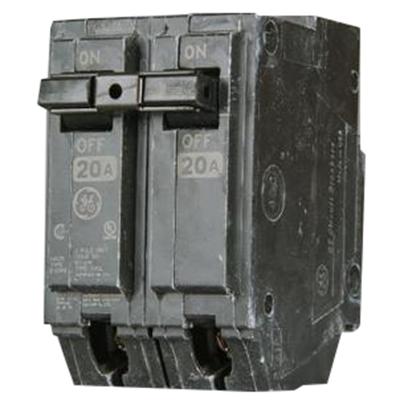 GE Distribution THHQL2160 Q-Line Molded Case Circuit Breaker; 60 Amp, 120/240 Volt AC, 2-Pole, Plug-In Mount