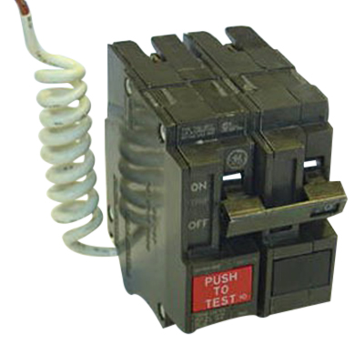GE Distribution THQL2130GF1 Ground Fault Q-Line Molded Case Circuit Breaker; 30 Amp, 120/240 Volt AC, 2-Pole, Plug-In Mount