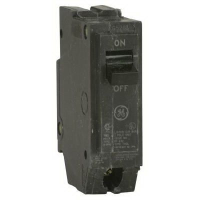 GE Distribution THQL1120 Q-Line Molded Case Circuit Breaker; 20 Amp, 120/240 Volt AC, 1-Pole, Plug-In Mount