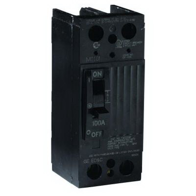 GE Distribution TQD22125WL Molded Case Circuit Breaker; 125 Amp, 240 Volt AC, 2-Pole