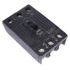 GE Distribution TQD32200WL Molded Case Circuit Breaker; 200 Amp, 240 Volt AC, 3-Pole
