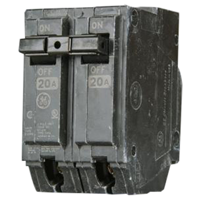 GE Distribution THHQL21125 Q-Line Molded Case Circuit Breaker; 125 Amp, 120/240 Volt AC, 2-Pole, Plug-In Mount