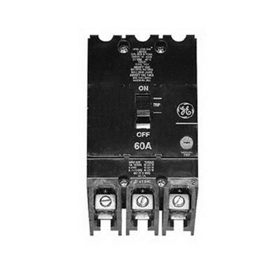 GE Distribution TEY345 Molded Case Circuit Breaker; 45 Amp, 480/277 Volt AC, 250 Volt DC, 3-Pole, Bolt-On Mount