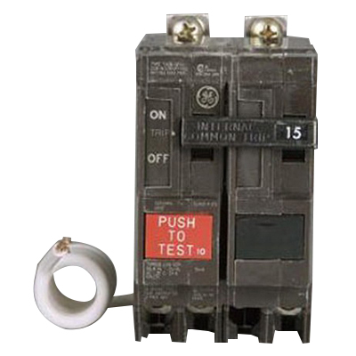 GE Distribution THQB2120GFEP Ground Fault Molded Case Circuit Breaker; 20 Amp, 120/240 Volt AC, 2-Pole, Bolt-On Mount