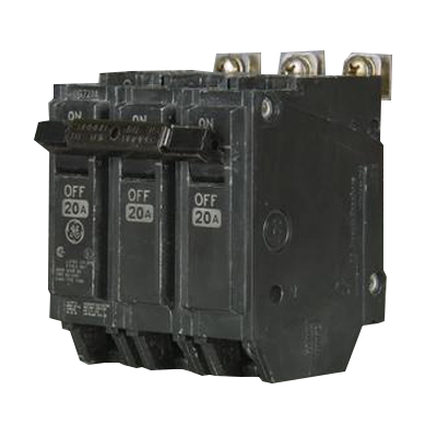 General Electric THQB32020 Molded Case Circuit Breaker; 20 Amp, 240 Volt AC, 3-Pole, Bolt-On Mount