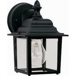Maxim 1025BK Builder Cast Collection 1-Light Incandescent Wall Lantern; 60 Watt, 672 Lumens, Black, Lamp Not Included
