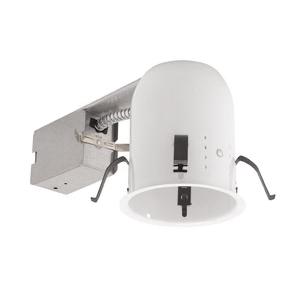 Capri Lighting P4R 4 Inch Mini-Recessed Housing; 22 Gauge Steel, Non-Insulated Ceiling
