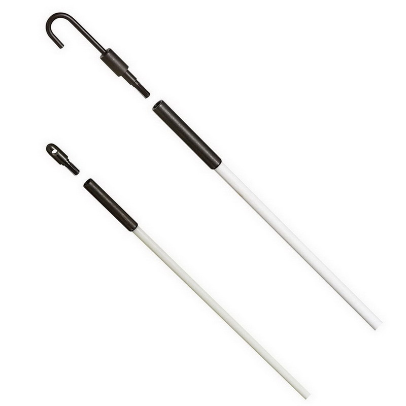 Ideal 31-612 Tuff-Rod™ Regular Flex Fishing Pole Kit; 24 ft, Fiberglass, White