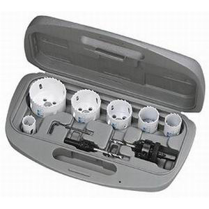 Ideal 35-400 8-Piece Bi-Metal Electrician's Hole Saw Kit; 7/8 Inch, 1-1/8 Inch, 1-3/8 Inch, 1-3/4 Inch, 2 Inch, 2-1/2 Inch