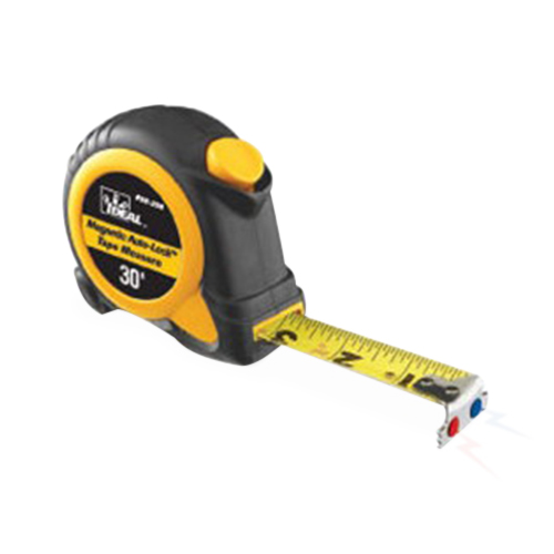 Ideal 35-238 Mag-Tape Magnetic-Tip Power Retrac Measuring Tape; 30 ft x 4.5 Inch