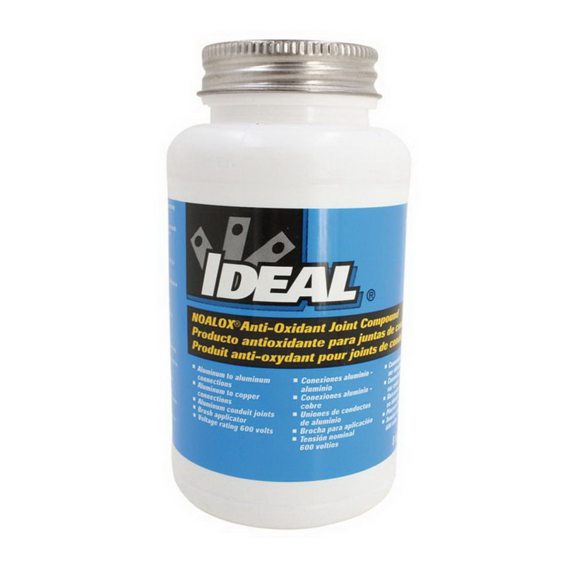 Ideal 30-031 Noalox® Anti-Oxidant Compound; 8 oz, Bottle With Brush In Cap, Gray